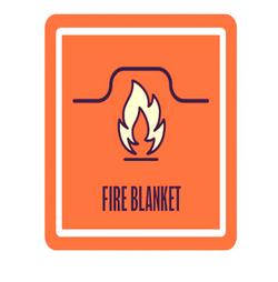 Fire Blanket lab symbol
