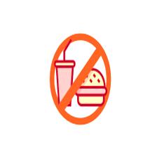Food & Drink Prohibited lab symbol