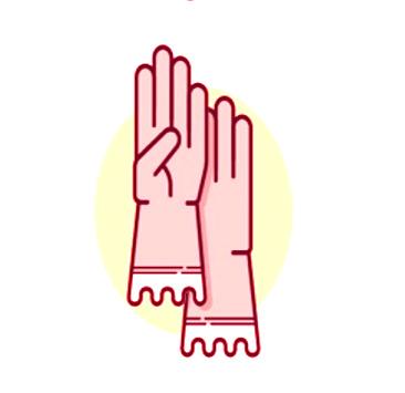 Gloves required lab symbol