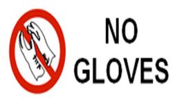 No Gloves lab symbol