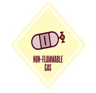 Non-flammable gas lab symbol