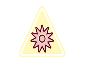 Optical radiation hazard lab symbol