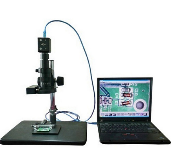 USB microscope connected to the laptop